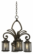Kalco 6687 Keswick Small Traditional 4 Lamp Antique Copper Lighting Chandelier