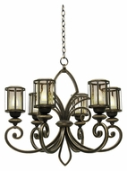 Kalco 6688 Keswick Large 6 Lamp 26 Inch Diameter Antique Copper Chandelier Light Fixture