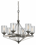 Cal FX-3538/6 Cresco Transitional Textured Steel Finish 6 Lamp Hanging Chandelier