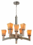 Kalco 6516 Boston 8 Lamp Tarnished Silver Transitional Chandelier