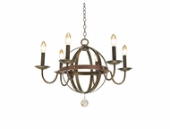 Kalco 2765 Devon Vintage Iron 6 Candle Transitional 25 Inch Diameter Ceiling Chandelier Light