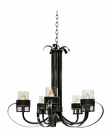 Kalco 2890 Bexley Vintage Iron 28 Inch Diameter Transitional Chandelier Lighting
