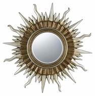 Cal WA-2166MIR Sunburst 45 Inch Tall Contemporary Home Mirror - Gold & Silver