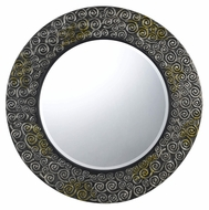 Cal WA-2169MIR Salisbury 32 Inch Diameter Dappel Finish Contemporary Mirror