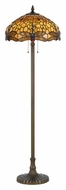 Cal BO-2372FL Dragonfly Tiffany Art Glass 60 Inch Tall Floor Lamp Lighting