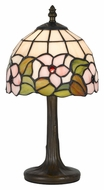 Cal BO-2379AC 13 Inch Tall Antique Brass Tiffany Accent Lamp