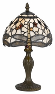Cal BO-2380AC Antique Brass Finish 14 Inch Tall Dragonfly Accent Lamp