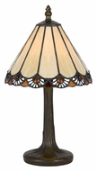 Cal BO-2382AC Tiffany Antique Brass Accent Lamp - 13 Inches Tall