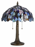 Cal BO-2387TB 22 Inch Tall Tiffany Art Glass Living Room Table Lamp