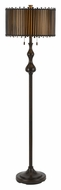 Cal BO-2357FL Wood Finish 61 Inch Tall Contemporary Floor Lamp