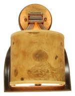 Kalco 2751 New Haven 7 Inch Tall Rustic Style Wood Accented Wall Sconce