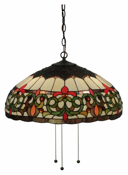 Meyda Tiffany 130757 Creole 22 Inch Diameter Tiffany Pendant Lamp Lighting