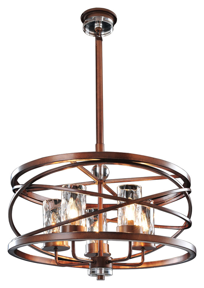 Kalco 6609 eternity large 24 inch diameter 5 lamp pendant hanging light loading zoom