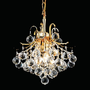 Elegant 8000D12G-RC Toureg Crystal Mini Pendant Light With Gold Finish