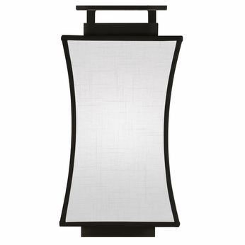 Fine Art Lamps 232850-6 Black & White Story Black Satin Lacquer Finish Lighting Sconce - FIN ...
