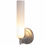 Bruck Candle White Matte Glass 10 Inch Tall Lighting Sconce