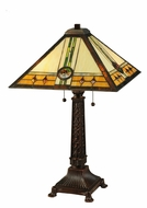 Meyda Tiffany 138771 Carlsbad Mission Pull Chain 26 Inch Tall Tiffany Lamp