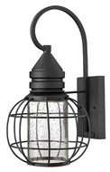 Hinkley 2254BK New Castle Nautical 16 Inch Tall Outdoor Black Wall Light Fixture - Medium