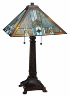 Meyda Tiffany 138772 Prairie Wheat Sunshower Tiffany Style 26 Inch Tall Table Light