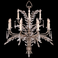 Fine Art 300840 Winter Palace 42 Inch Diameter Warm Antiqued Silver Candle Chandelier