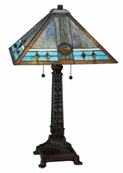 Meyda Tiffany 138776 Mission Rose Tiffany 26 Inch Tall Table Top Lamp