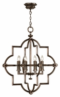 Fine Art 860040 Liaison 8 Candle Hand-Rubbed Bronze Transitional Lighting Chandelier