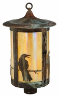 Meyda Tiffany 139412 Fulton Crow 19 Inch Tall Outdoor Pier Mount Lighting