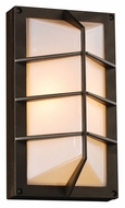 PLC 2400BZ Expo Exterior Wall Light Fixture - Bronze