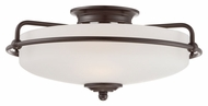 Quoizel GF1617PN Griffin Small Vintage Palladian Bronze 17 Inch Diameter Ceiling Lamp