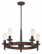 Quoizel TVN5005DK Tavern Retro 26 Inch Diameter 5 Lamp Lighting Chandelier