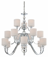 Quoizel DW5015C Downtown 15 Lamp Polished Chrome Modern Ceiling Chandelier