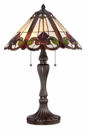 Quoizel TF1425TWT Tiffany Art Glass Western Bronze 24 Inch Tall Table Lighting