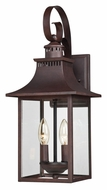 Quoizel CCR8408CU Chancellor Exterior Copper Bronze 19 Inch Tall Medium Wall Sconce