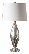 Uttermost 26343 Palouse Silver Champagne Leaf Contemporary Table Lamp