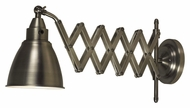 Kenroy Home 32197ANI Floren Accordion Extending 10 Inch Tall Antique Nickel Wall Lamp