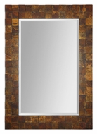 Uttermost 7057 Ambrosia Oxidized Copper Mosaic Frame 46 Inch Tall Wall Mirror