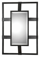 Uttermost 07645 Reidar 37 Inch Tall Black Crackle Beveled Mirror