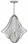 Fredrick Ramond FR43535PNI Bijou Crystal 28 Inch Diameter 5 Candle Hanging Chandelier - Small
