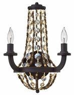 Fredrick Ramond FR42862VBZ Hamlet 10 Inch Wide Vintage Bronze Transitional Candle Sconce