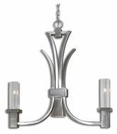 Uttermost 21249 Glacio 2 Lamp Crystal Hanging Chandelier - 27 Inches Wide