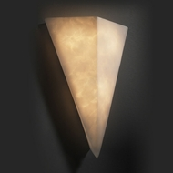 Justice Design CLD-1141 Contemporary 17 Inch Tall Triangle Wall Sconce - Cloud Glass