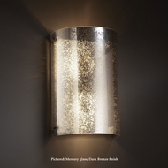 Justice Design FSN-5542 Finials Curved 2 Lamp Mercury Glass Pocket Wall Sconce With LED Option