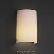 Justice Design FSN-5542 Finials Curved Transitional Opal Glass 12 Inch Tall Lighting Sconce
