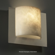 Justice Design CLD-5560 Framed Cloud Glass 10 Inch Tall Wall Sconce Lamp