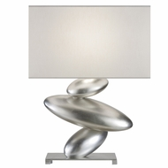 Fine Art 829810 Recollections Contemporary Platinized Silver Leaf 24 Inch Tall Bed Lamp
