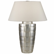 Fine Art 830010 Recollections Modern Platinized Silver 32 Inch Tall Table Top Lamp