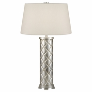 Fine Art 836410 Recollections Platinized Silver Leaf Modern Bedroom Table Lamp