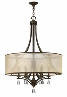 Fredrick Ramond FR45608FBZ Mime Large 30 Inch Diameter French Bronze Chandelier Lamp