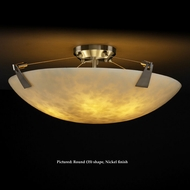 Justice Design CLD-9632 Tapered Clips Small Cloud Glass Semi Flush Ceiling Lighting With LED Option