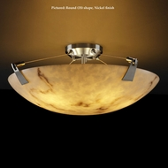 Justice Design FAL-9634 Tapered Clips Large Semi Flush LumenAria Ceiling Light - 39 Inches Wide